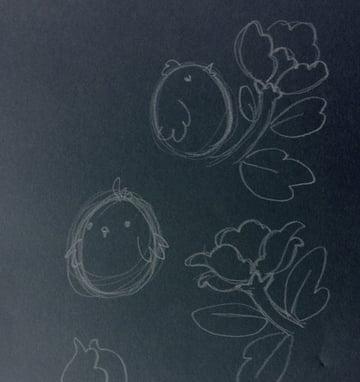 Seamless pattern in PS - sketching motifs