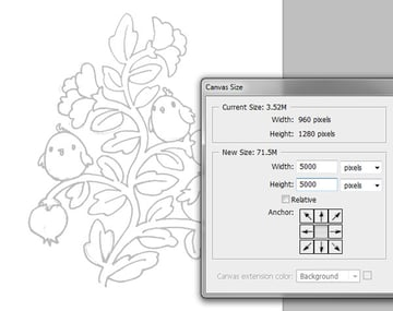 Seamless pattern in PS - scanned sketch