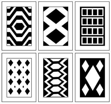 Traditional kilim layouts