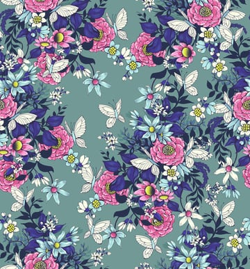 Make a floral pattern for fabric in PS - the final piece