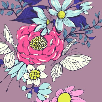 Make a floral pattern for fabric in PS - highlights