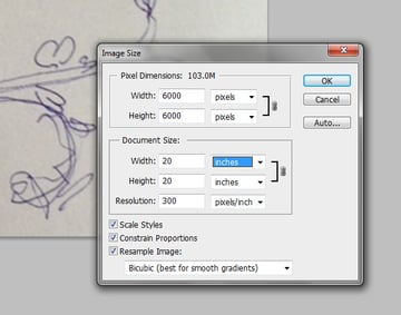 Make a floral pattern for fabric in PS - setting the file size