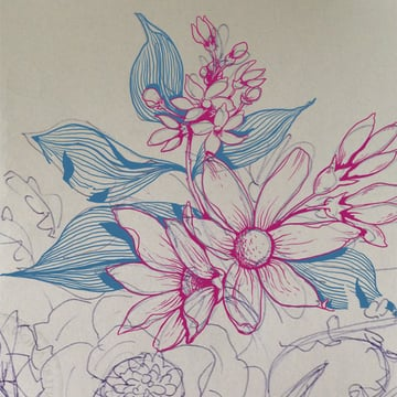 Make a floral pattern for fabric in PS - draw motifs separately