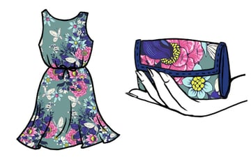 Make a floral pattern for fabric in PS - consider scale