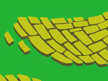 Brick Road and Poppy Field pattern - extruding your bricks into 3D
