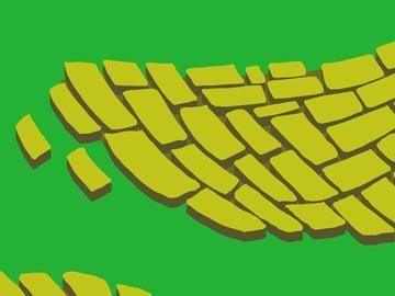 Brick Road and Poppy Field pattern - extruding the bricks pt 2