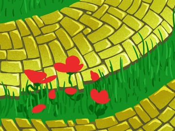Brick Road and Poppy Field pattern - outer poppy petals