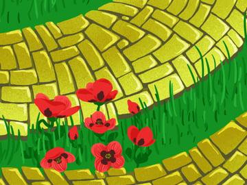 Brick Road and Poppy Field pattern - adding petal details