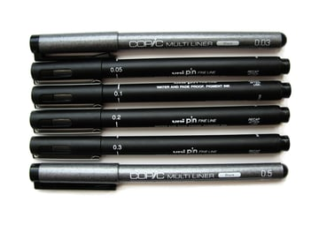 Ink liners of differnet width