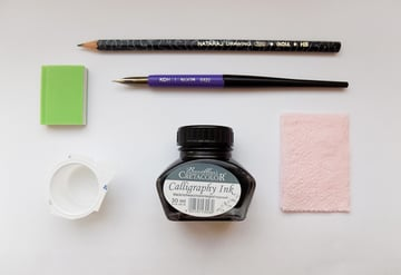 Art supplies for this drawing