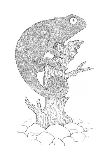 Adding another layer of hatching to the tree