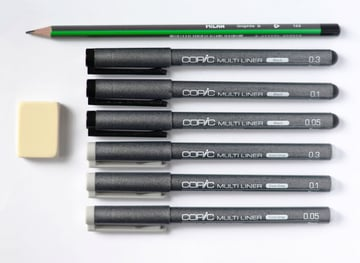 The art supplies I use