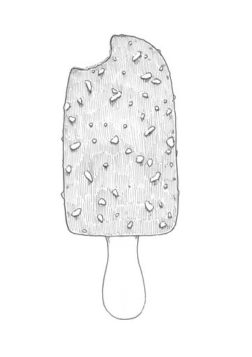 Adding the hatching to the ice lolly