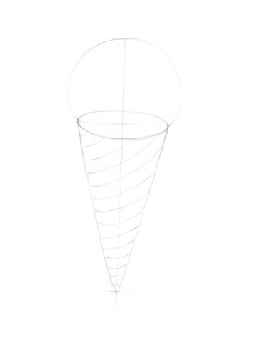 Starting the pattern of the cone