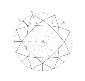 Creating a figure inside the diamond shape