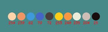 R color values for palette