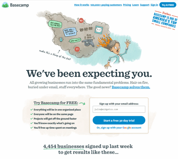 Example of good website readability