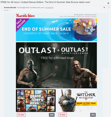 Example of time sensitive offer emails