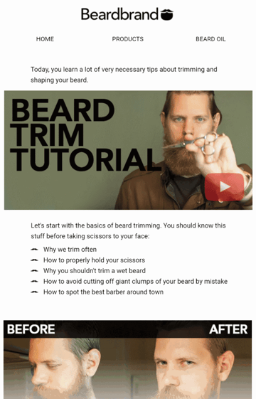Tutorial email example