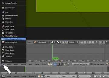 Switch to video sequence editor