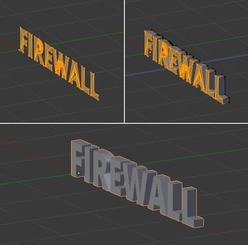 Extrude the text