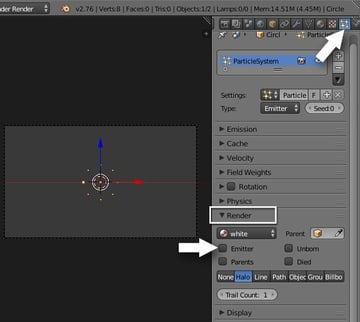 Particle settings