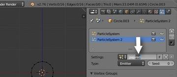 Renaming new particle settings