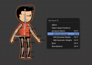 Linking the armature to character