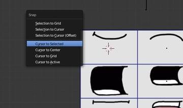 Placing the cursor