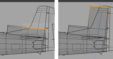 Select and extrude the face