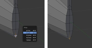 Merge selected vertices