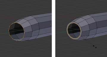 Extrude and scale done front vertices