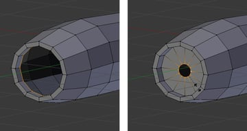 Scale down selected vertices