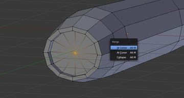 Merge selected vertices at center
