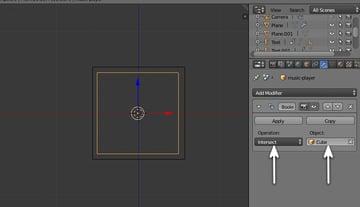 Boolean modifier settings
