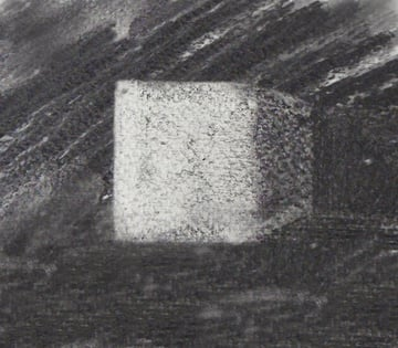 Charcoal and putty eraser drawing
