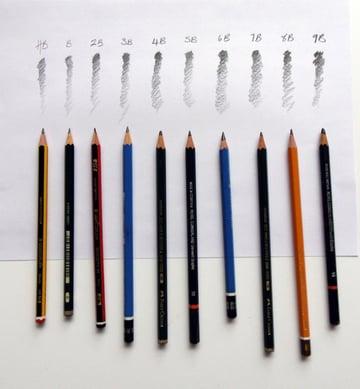 B to 9B Pencils