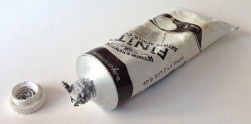 Dried tube of paint