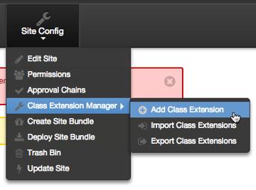 Add Class Extension