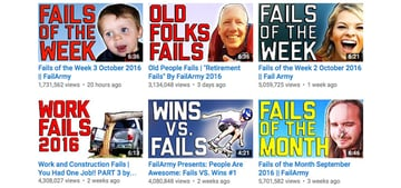 Video thumbnails using text