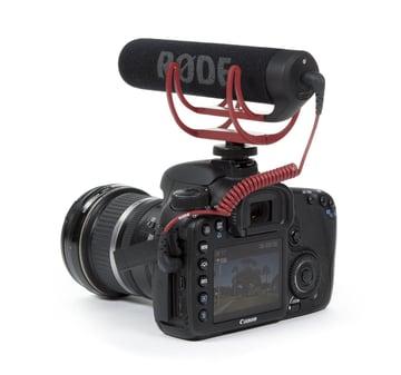 Shotgun mic attached to camera