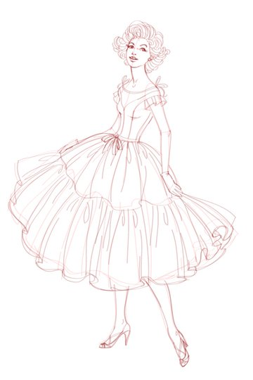a sketch of the character