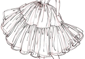 contour of the skirt
