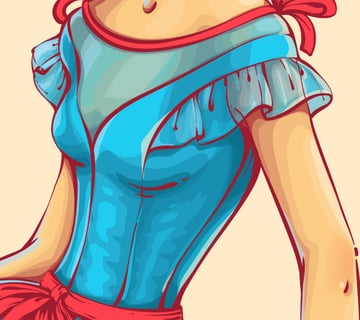 adding bright highlights to the bodice