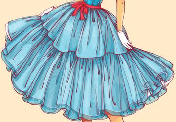 adding highlights to the skirt