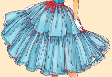 adding bright highlights to the skirt