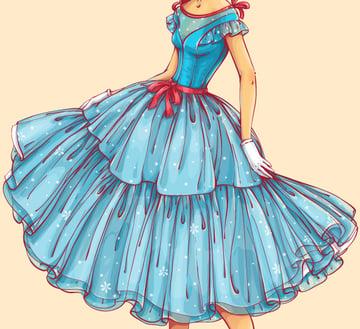 pattern on the dress