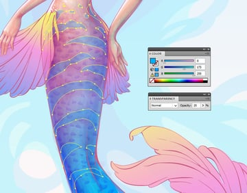 adding pattern to the tail