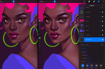 How to Paint a Portrait in Procreate Tutorial face texture