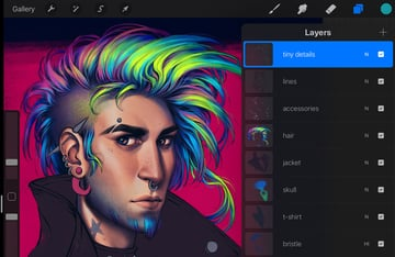 add tiny details to the hair
